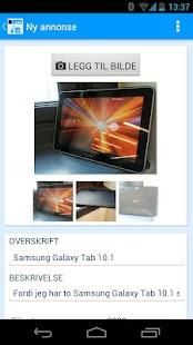FINN torget annonseinnlegging - screenshot thumbnail
