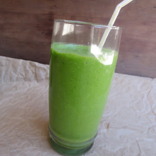 Mango or Pineapple Coconut Spinach Smoothie.