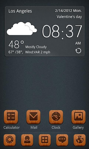 Woodie GO Launcher Theme