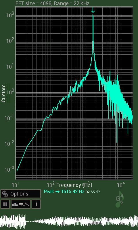 Spectrum Analyser- screenshot