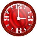 Nice Red Clock Widget. logo