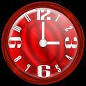 Nice Red Clock Widget. logo