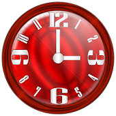 Nice Red Clock Widget.