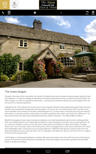 Cotswold Life - The Menu