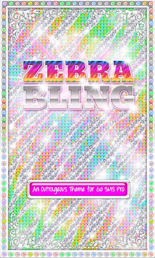 ♦BLING♦Theme Rainbow Zebra SMS