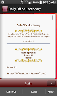 Daily Office Lectionary- screenshot thumbnail