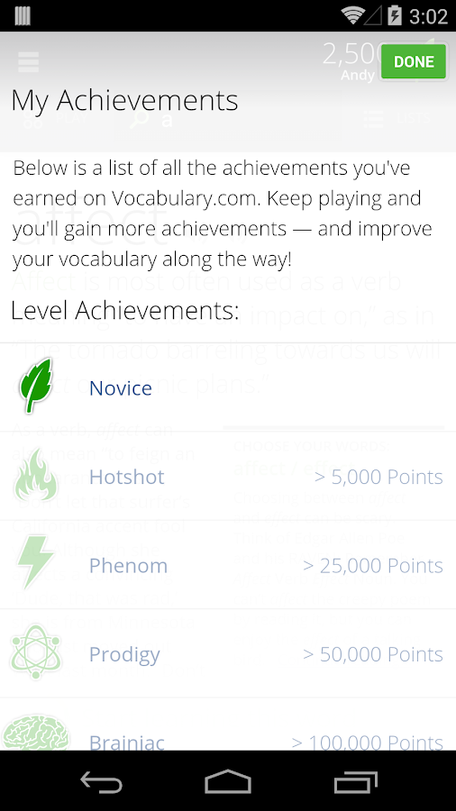 Vocabulary.com - screenshot