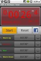 Screenshot of HIIT It Workout Timer