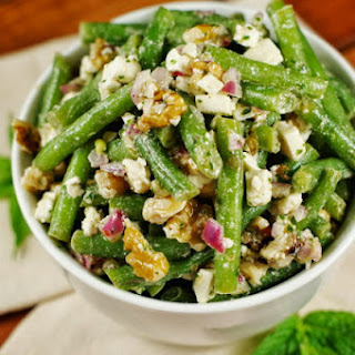 Green Bean, Walnut, & Feta Salad