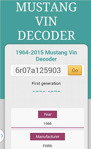 Mustang Vin Decoder