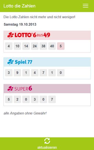 Lotto die Zahlen
