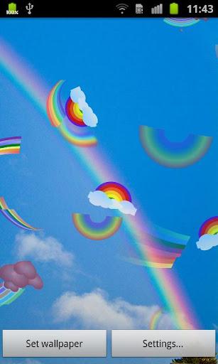 彩虹動態桌布