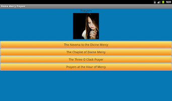 Screenshot of Divine Mercy Prayers