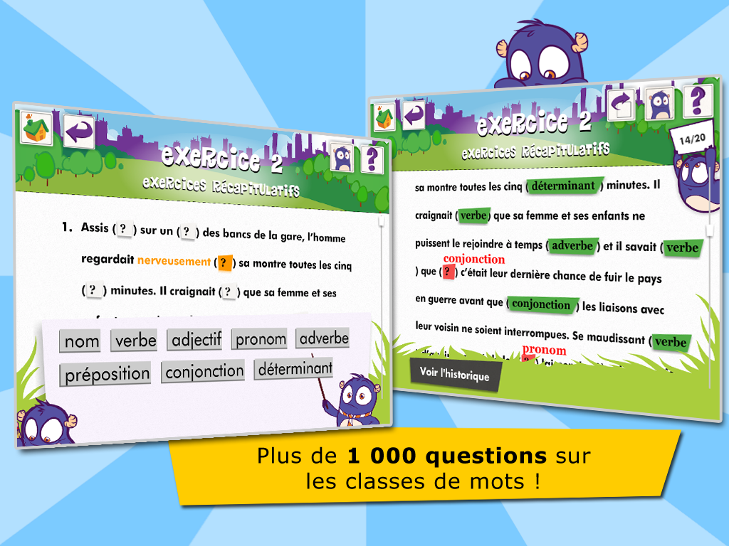Les classes de mots- screenshot