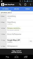 Screenshot of GDG DevFest 2012 Karlsruhe