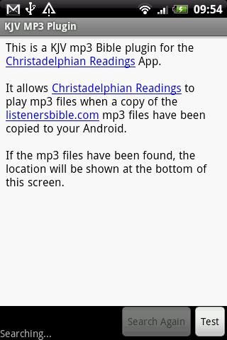KJV MP3 Plugin for Listeners