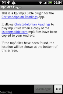 KJV MP3 Plugin for Listeners - screenshot thumbnail