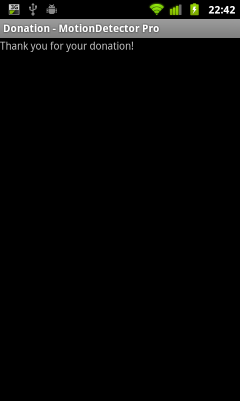 Motion Detector Pro Donation- screenshot