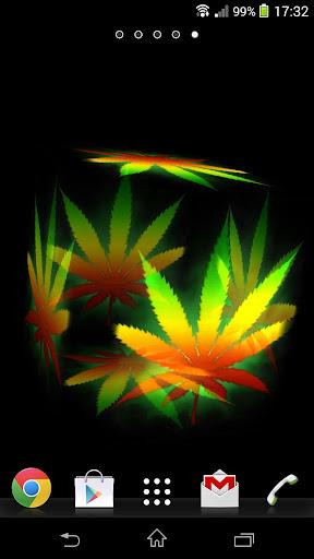 玩漫畫App|3D Weed Leaf Rastafari LWP免費|APP試玩