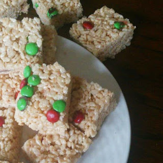 Christmas M&M Rice Krispies Treats
