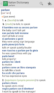 Collins Italian Dictionary TR - screenshot thumbnail