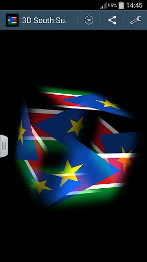 3D South Sudan Cube Flag LWP