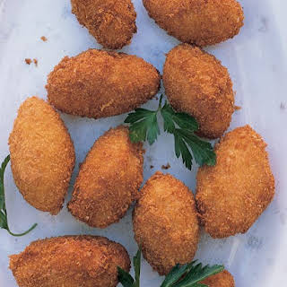 Croquettes with Serrano Ham and Manchego Cheese.