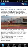 Screenshot of FIE Fencing