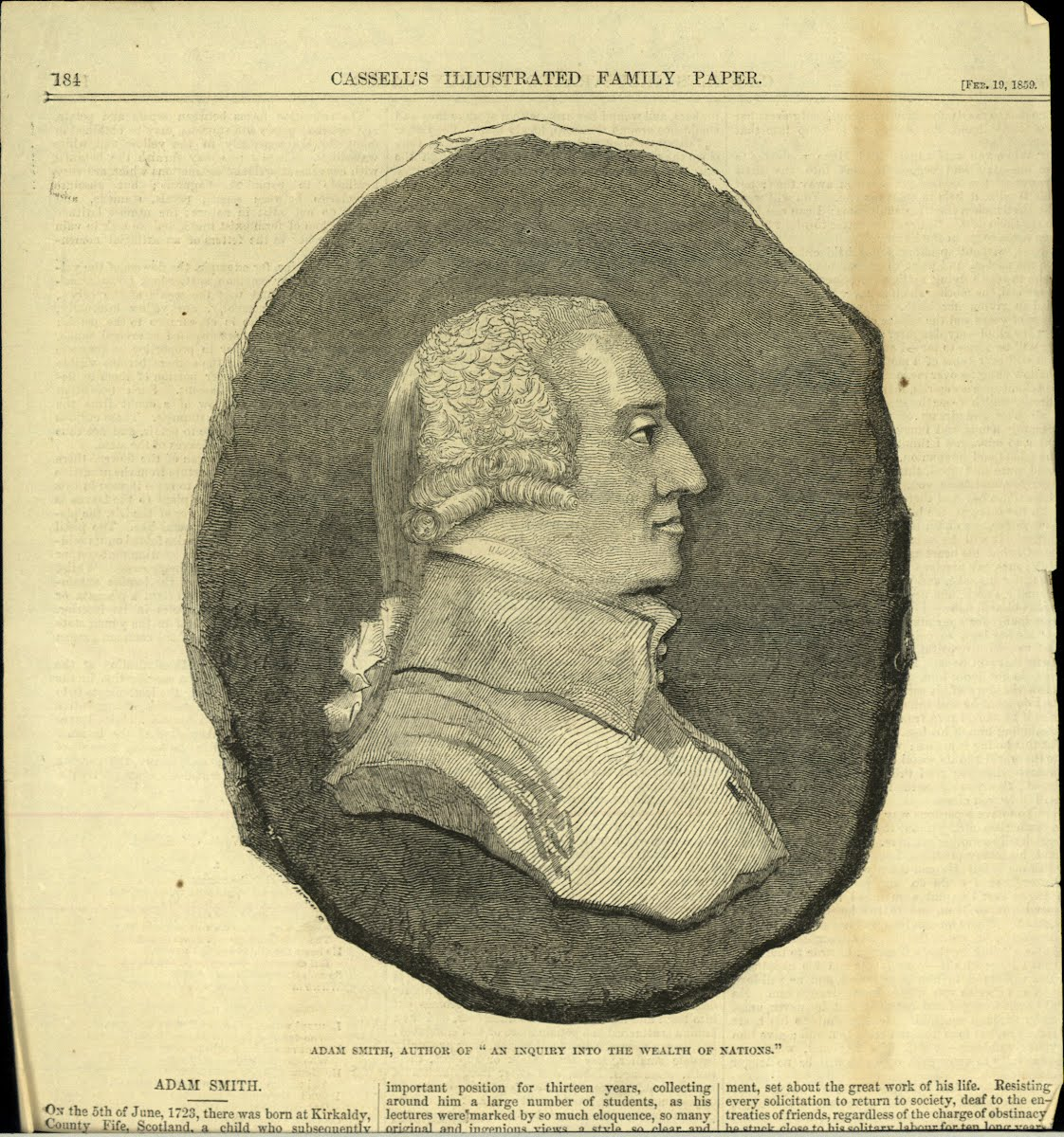 Smith Adam 1723-1790 Political Economist