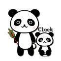 Panda watch digital icon
