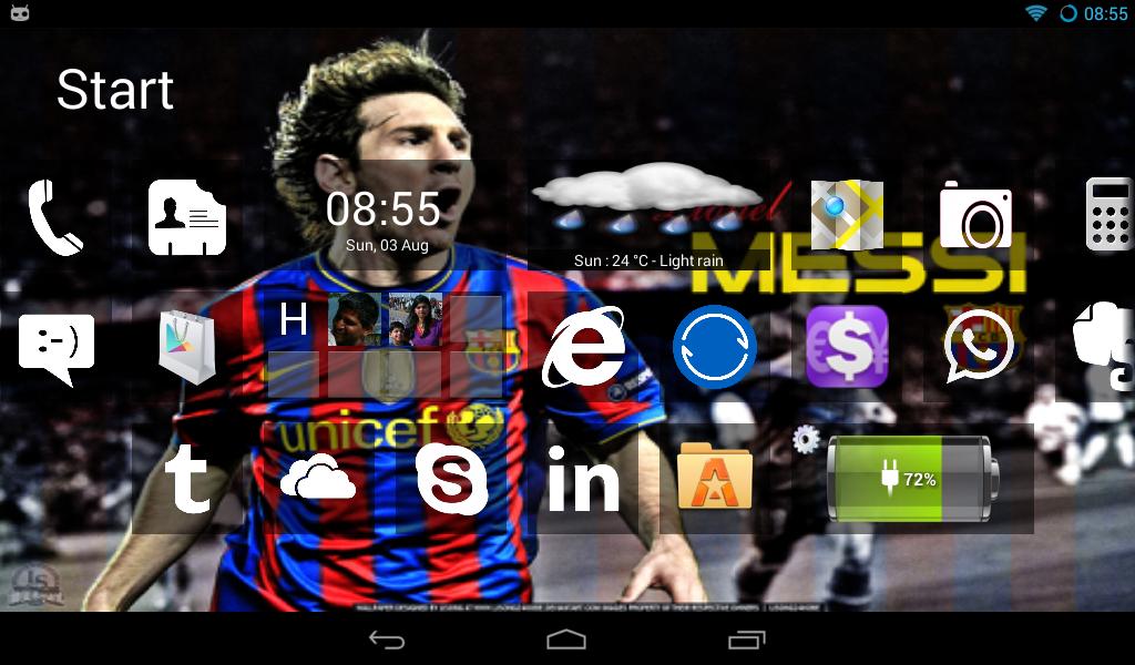 Home8 like Windows 8 launcher - screenshot