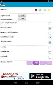 Math Practice Flash Cards Screenshot 17