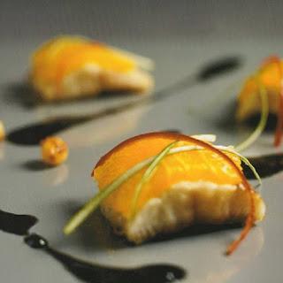 Dim Sum Van Gerookte Paling Met Sinaasappel,olijven En