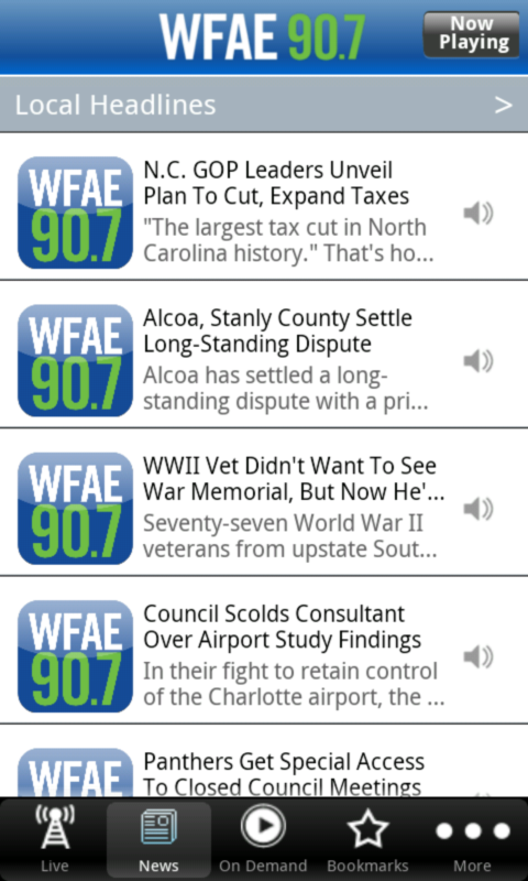WFAE Public Radio App - screenshot