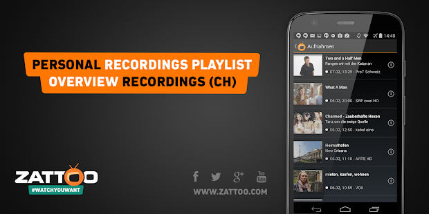 Zattoo TV App Live Television - screenshot thumbnail