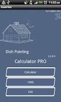 Screenshot of Dish Pointing Calculator Pro