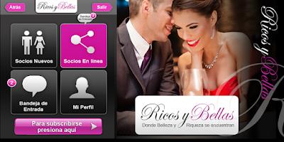 Screenshot of Ricos y Bellas -amor y riqueza