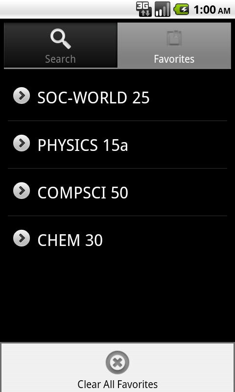 Harvard Courses - screenshot