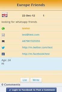 Find whatsApp Friends BBS - screenshot thumbnail