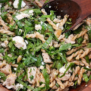 Pasta With Spinach And Goat Cheese.