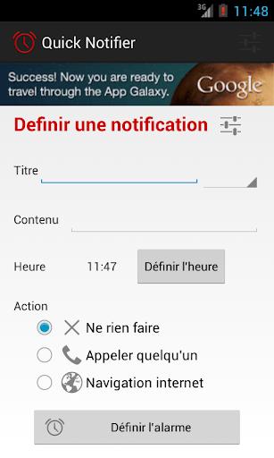 Quick notifier
