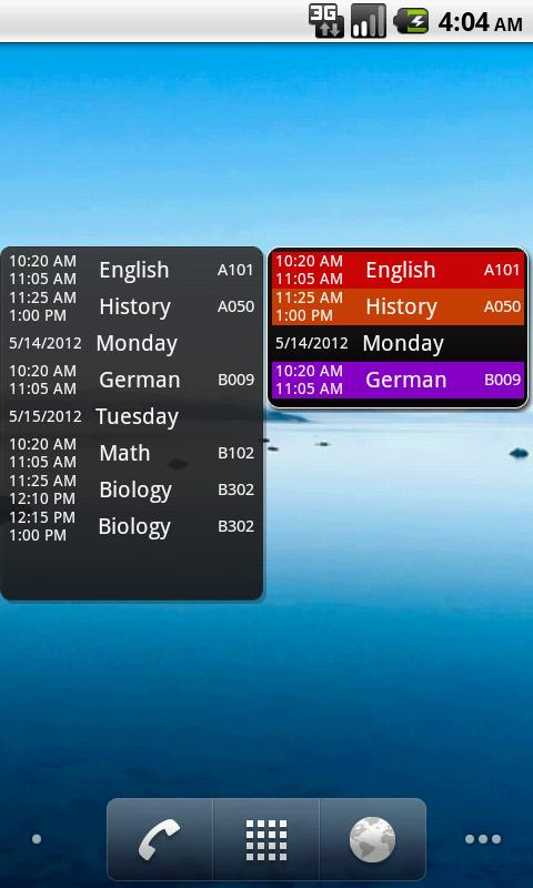 My Class Schedule (donation) - screenshot