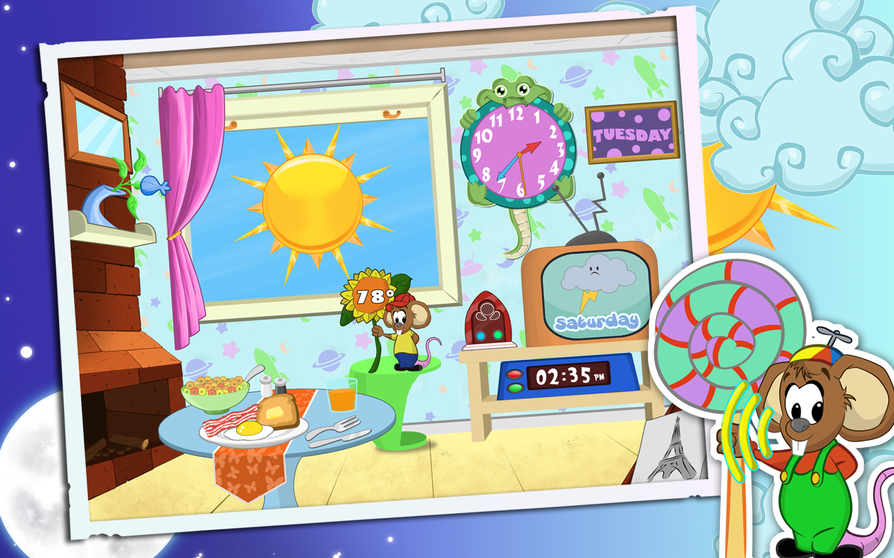 Weather and Clock for Kids- screenshot