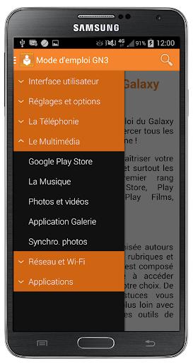 Galaxy Note 3 - Mode d'emploi