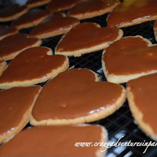 Valentine's Day Heart-Shaped Cookies.