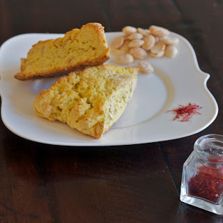 Saffron Scones with Marcona Almonds Recipe