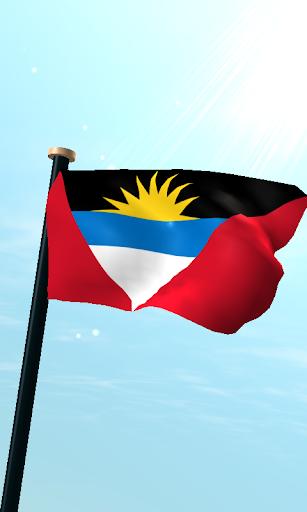 安提瓜和巴布達旗3D免費動態桌布