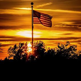 God Bless America by Dennis Scanlon - Landscapes Sunsets & Sunrises