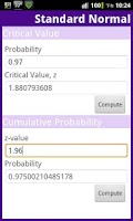 Screenshot of Statistical Distribution