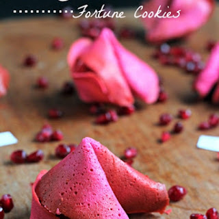 Pomegranate Fortune Cookies Recipe